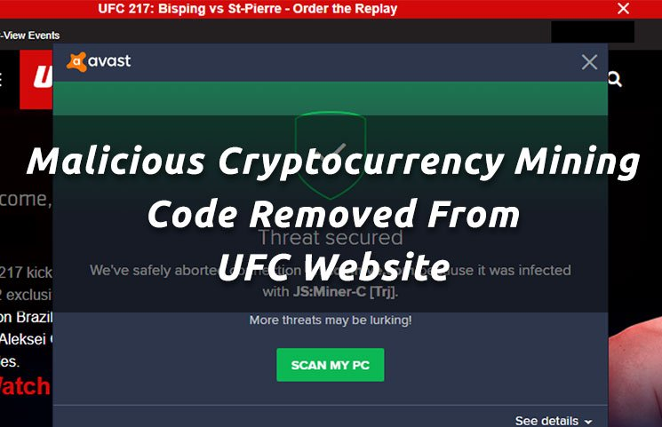 Malicious Cryptocurrency Mining Code Removed From UFC Website
