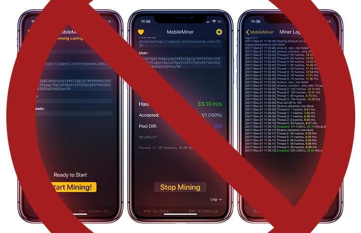 Cryptocurrency Mining Apps for iPhone & iPad Get Axed by Apple's New Guidelines