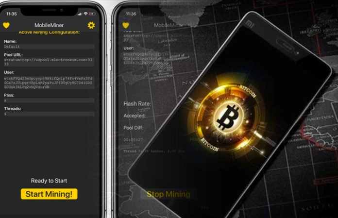smart phone mining cryptocurrency