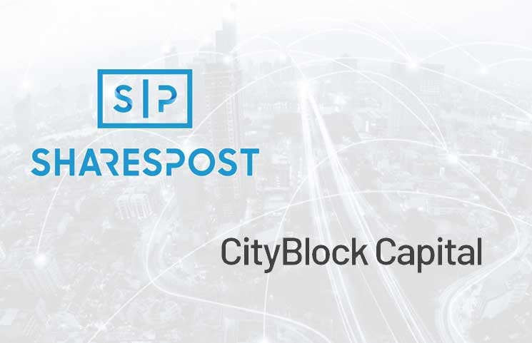 Initial Digital Security Token Sale for CityBlock Capital to be Conducted on SharesPost Website
