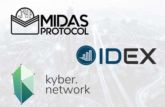 Midas Protocol Joins with Kyber Network, IDEX to Ensure Proper Universal Crypto Wallet Creation