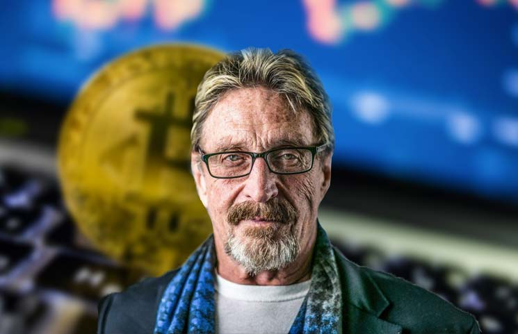 McAfee May Be on the Run But Still Tells the World to Buy Bitcoin if Its a Good Deal End of Story