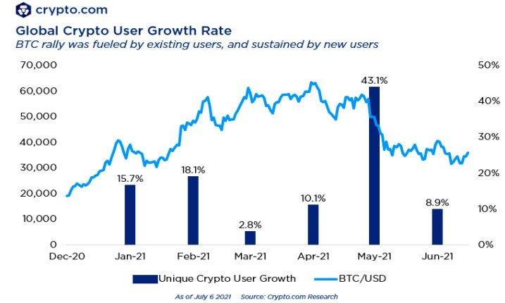 Global Crypto User Growth Rate